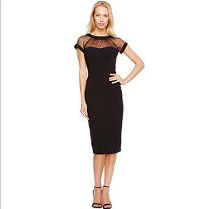 4c7f1bec Maggy London Dresses - Maggy London Illusion Top Crepe Dress Black